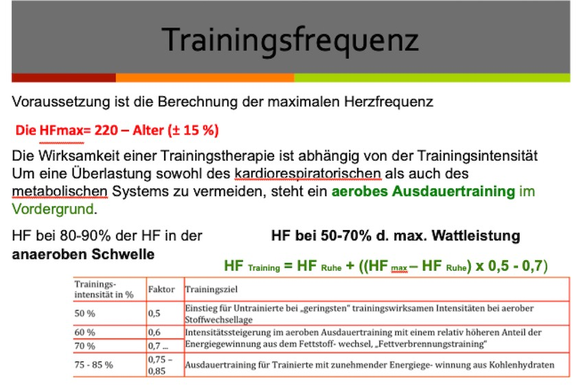 TRAININGSHERZFREQUENZ 2:2